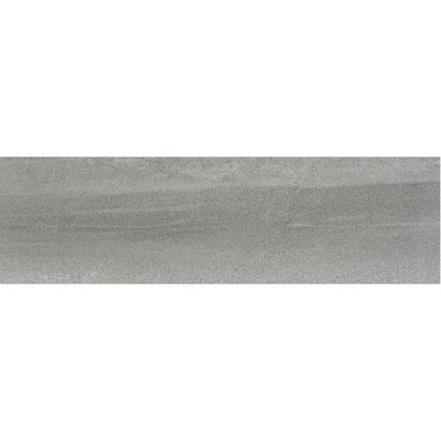 Burlington 24 x 4 Bullnose Tile Trim in Medium Gray