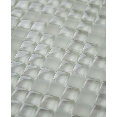 Micron 0.38 x 0.38 Glass Mosaic Tile in Latte