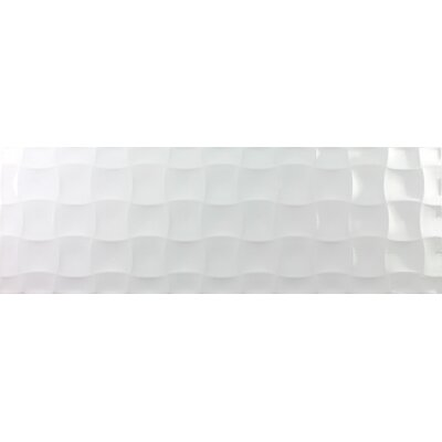 Millenium 12 x 36 Ceramic Field Tile in Blanco Quilt