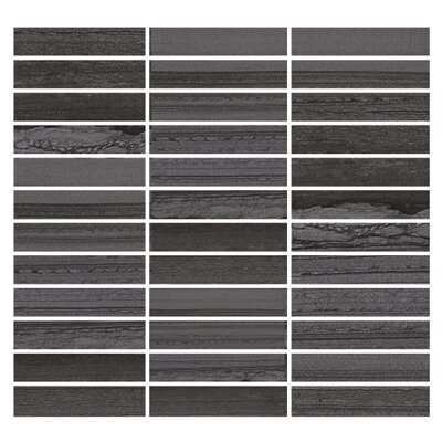 Lakestone 1 x 4 Porcelain Mosaic Tile in Pewter