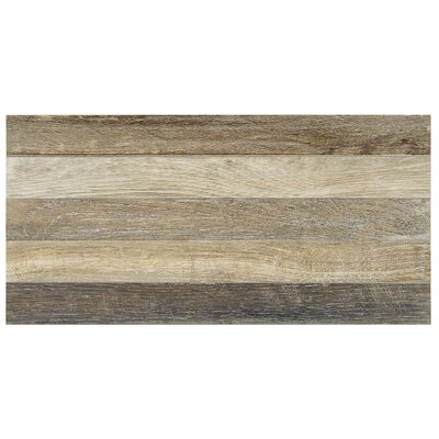 Parq 3.5 x 36 Porcelain Wood Look/Field Tile in Brown