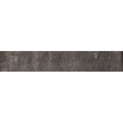 Concrete 24 x 4 Bullnose Tile Trim in Gun Powder