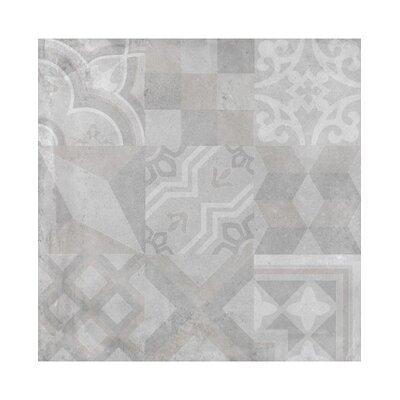 Alive 24 x 24 Porcelain Tile in Gray Deco