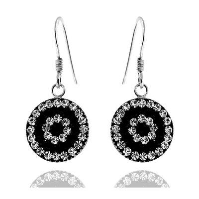 Moise Ferido Crystal Drop Earrings - Color: Black Background