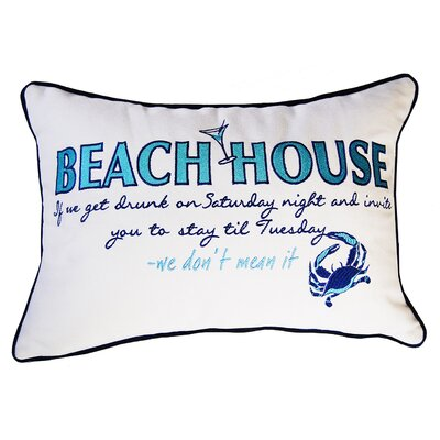 I Sea Life Beachouse Inspiration Cotton Throw Pillow
