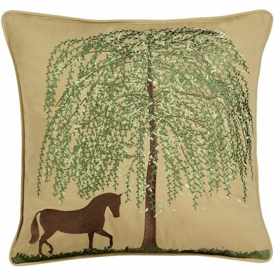 Abigail and Lily Equine Spring Willow Horse Indoor/Outdoor Sunbrella Throw Pillow