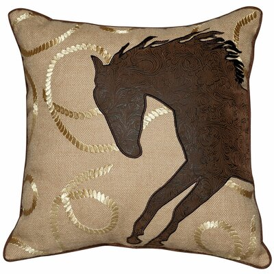 Abigail and Lily Equine Throw Pillow