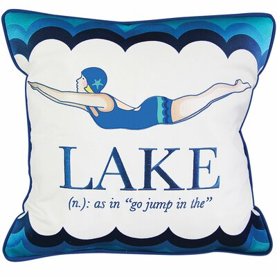 Lake Retreat Diver Outdoor Sunbrella Throw Pillow