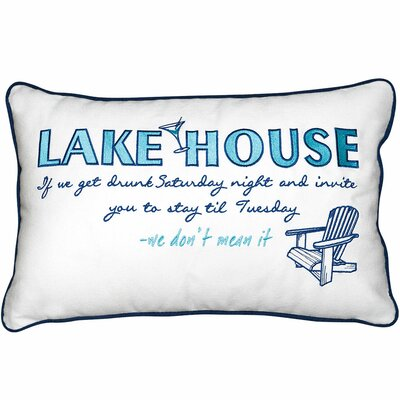 Lake Retreat House Inspiration Cotton Throw Pillow