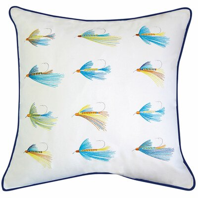 Lake Retreat Flyfish Hooks Outdoor Sunbrella Throw Pillow