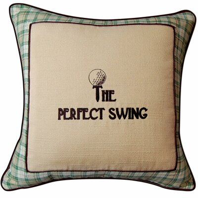 In the Fairway the Perfect Swing Golf Throw Pillow