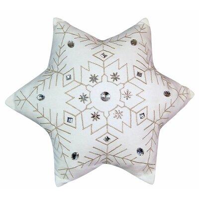 Holiday Snowflake Throw Pillow