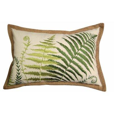 In the Garden Embroidered Ferns Lumbar Pillow