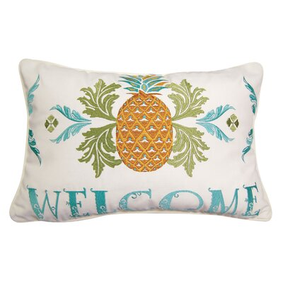 Pineapple Welcome Indoor/Outdoor Lumbar Pillow