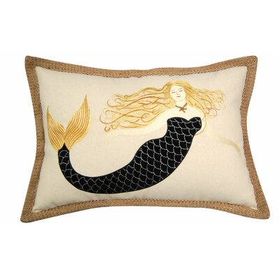 I Sea Life Sirens Wear Black Mermaid Lumbar Pillow