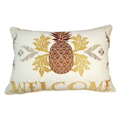 Pieapple Welcome Indoor/Outdoor Lumbar Pillow