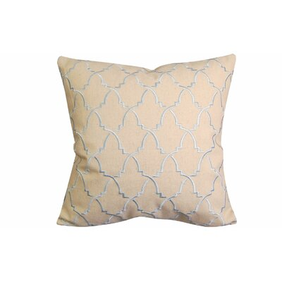 Contemporary Turkish Pattern Throw Pillow Color: Beige/Blue