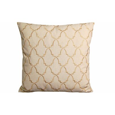 Contemporary Turkish Pattern Throw Pillow Color: Beige/Gold