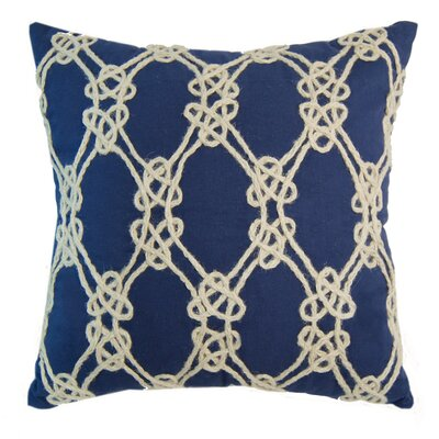 I Sea Life Nautical Rope Patterned Throw Pillow Color: Navy