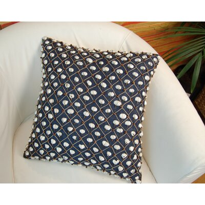 Current Embellished Throw Pillow Color: Navy