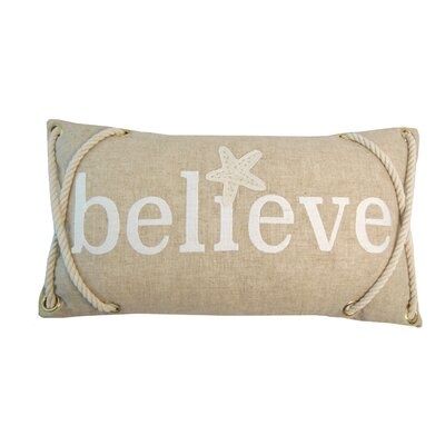 Believe 100% Cotton Lumbar Pillow