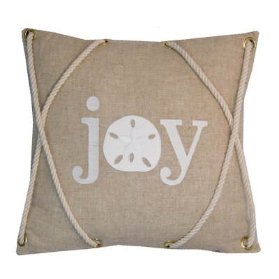 Joy Nautical Holiday 100% Cotton Throw Pillow