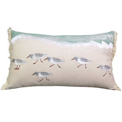Sand Piper Sprint Coastal 100% Cotton Lumbar Pillow