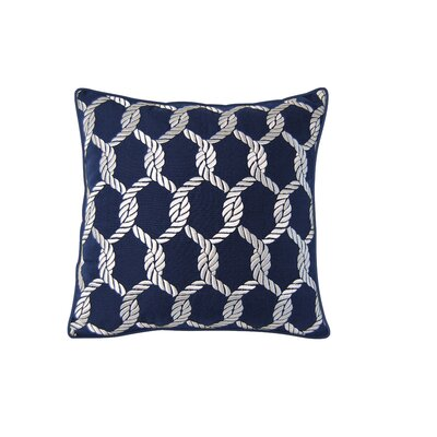 Cayuta Nautical Knots Outdoor Embroidered Throw Pillow