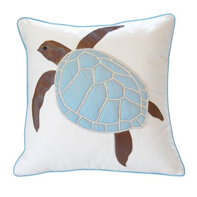 Yunior Sea Turtle Beaded Throw Pillow