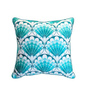 Bruton Shell Embroidered Pattern Outdoor Throw Pillow