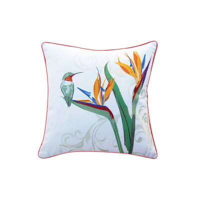 Czajkowski Hummingbird and Bird of Paradise Indoor/Outdoor Throw Pillow