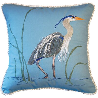 I Sea Life Great Heron Toss Cotton Throw Pillow
