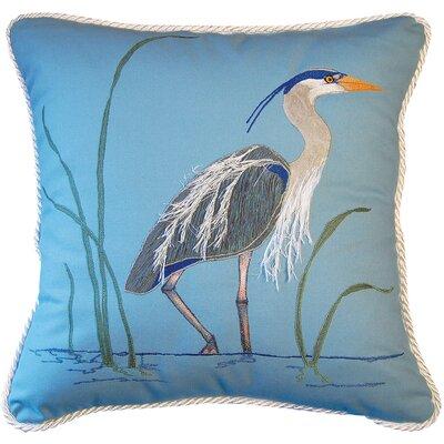 I Sea Life Great Heron Toss Cotton Throw Pillow