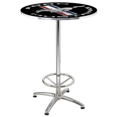 27 Round Mustang Cafe Table