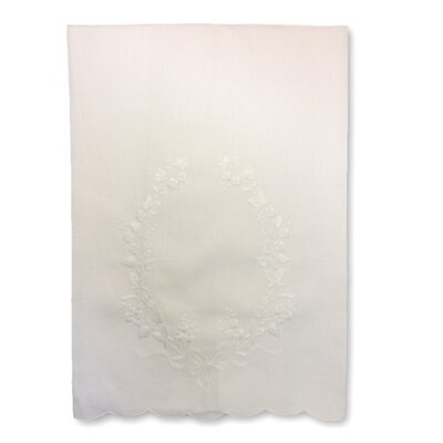 Guest Embroidered Crest Linen Hand Towel