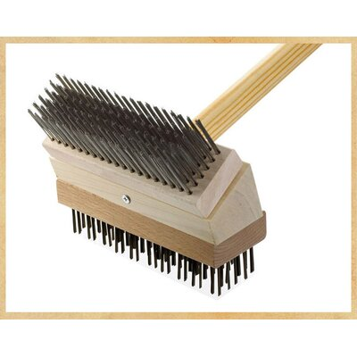Junior Grill Brush Brush: Stainless/Black Steel