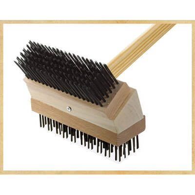 Junior Grill Brush Brush: Black Steel/Coarse