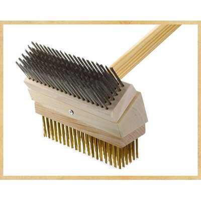 Junior Grill Brush Brush: Stainless/Brass