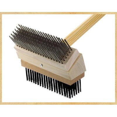 Grill Brush Brush: Stainless/Black Steel