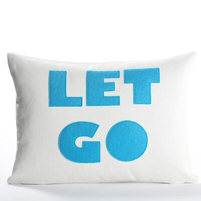 Zen Master Let Go Throw Pillow Color: Cream Canvas / Turquoise