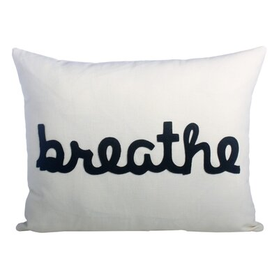 Zen Master Breathe Lumbar Pillow Color: Cream / Black Hemp and Organic Cotton