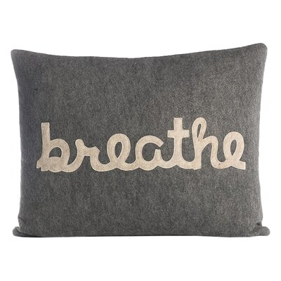 Zen Master Breathe Lumbar Pillow Color: Heather Grey / Oatmeal