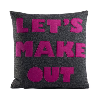 It Start With A Kiss Let's Make Out Throw Pillow Size: 16