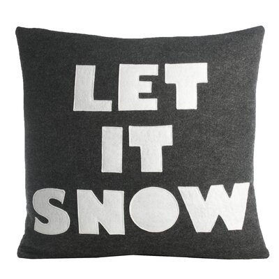 Weekend Getaway Let It Snow Throw Pillow Color: Oatmeal / Red Felt