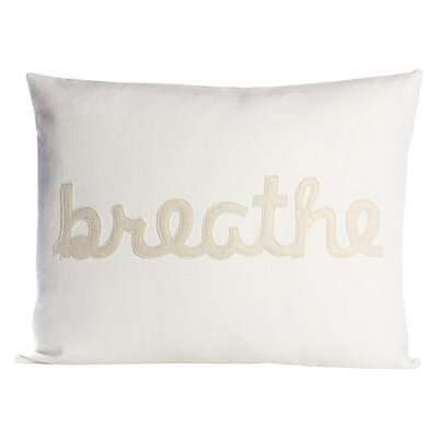 Zen Master Breathe Lumbar Pillow Color: Cream / Antique White Hemp and Organic Cotton