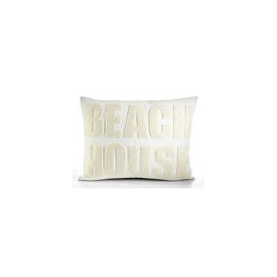 Space Defined Beach House Throw Pillow Color: Cream Canvas/Antique White