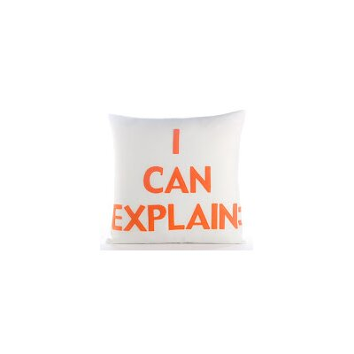 House Rules I Can Explain Throw Pillow Color: Cream Canvas/Orange