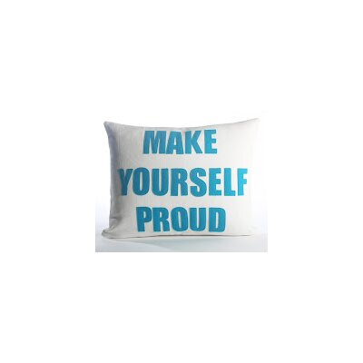 Go To The Gym Make Yourself Proud Throw Pillow Color: Cream Canvas/Orange