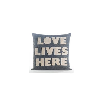 Celebrate Everyday Love Lives Here Throw Pillow Color: Heather Grey Felt/Oatmeal