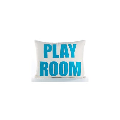 Space Defined Play Room Throw Pillow Color: Cream Canvas/Turquoise